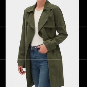 New Banana Republic soft green trench coat